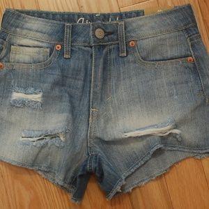 Aeropostale Women's High Rise Jean Shorts
